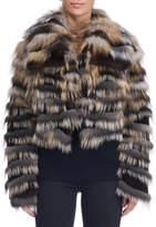 Michael Kors Mink Jacket with Cross Fox Fur