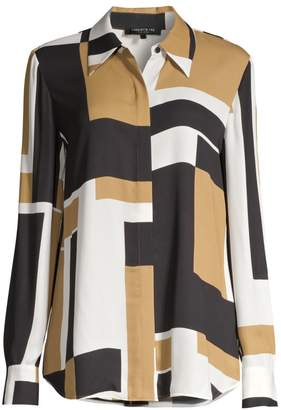 Lafayette 148 New York Julianne Abstract Shirt
