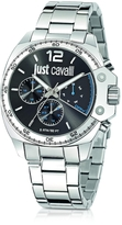 Just Cavalli Just Escape Silver Tone Stainless Steel Men's Watch