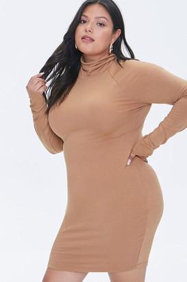 Forever 21 Plus Size Turtleneck Mini Dress