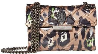 Kurt Geiger London Fabric Mini Kensington Crossbody (Camel/Other) Handbags