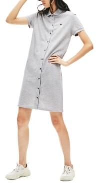 Lacoste Cotton Short-Sleeve Shirtdress