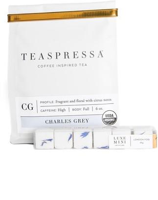 Teaspressa Charles Grey Loose Tea Pouch & London Fog Sugar Cube Set
