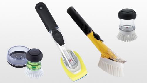 Good Grips Soap Dispensing Palm Brush Black