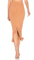Lavish Alice Flounce Hem Midi Skirt