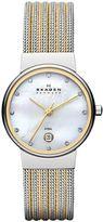 Skagen 355SSGS Ancher Silver and Gold Ladies Mesh Watch