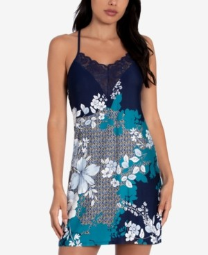 Linea Donatella Niya Border-Print Chemise Nightgown