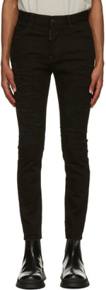DSQUARED2 Black Ripped Super Twinky Jeans