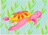Oopsy Daisy Fine Art For Kids Maggie the Sea Turtle Canvas Wall Art in Pink