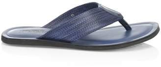Saks Fifth Avenue Melange Woven Thong Sandals