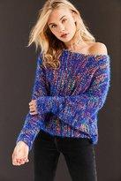 Ecote Funfetti Dolman-Sleeve Sweater