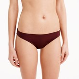 J.Crew Low-rider bikini bottom in Italian matte