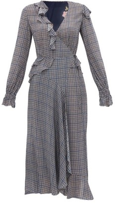 Preen Line Maieke Ruffled Gingham And Floral-print Dress - Womens - Multi