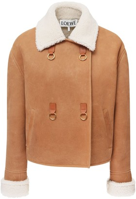 Loewe Double Breasted Shearling Jacket