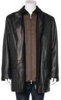 Brioni Brooks Leather Jacket w/ Tags