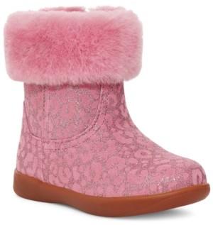 UGG Baby Girls Jorie Glitter Leopard Booties