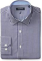 Nautica Men's Twill Check Spred Collar Dress Shirt