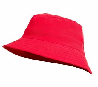 MFAZ Morefaz Ltd Kids Bucket Hat Youths Hats Summer Boy Girl Fisher Outdoor Sun Beach Cap Infants (Red Youths Size 56 cm)