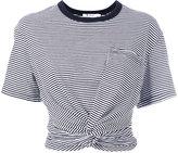 Alexander Wang striped cropped T-shirt - women - Cotton - M