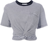 Alexander Wang striped cropped T-shirt - women - Cotton - XS