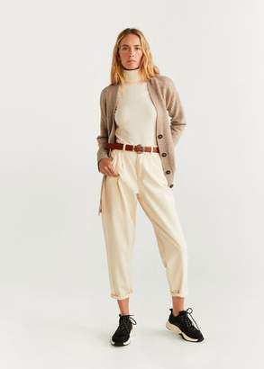 MANGO Button knit cardigan light/pastel grey - XS - Women