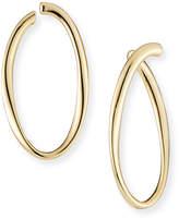 Lana Uptown Thin Graduating Crescent Hoop Earrings