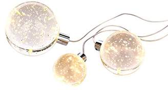 clear Illuminate Lida Unique, Urban Style 3 Led Solid Bubble Glass Ball Table Lamps, Very Unusual, Distinctive And Different, Clear, Chrome