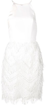 Aidan Mattox Sequin Fringe Short Dress