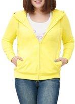 MSSHE Women's Full Zip Hoodie Plus Size Active Sweatshirt