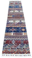 """Blue Area One-of-a-Kind Runner Oriental Hand-Knotted 2' x 9'3"""" Wool Rug Isabelline"""