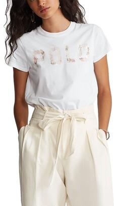 Polo Ralph Lauren Sequined Logo Cotton T-Shirt