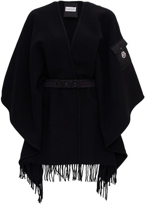 Moncler Wool Cape With Belt