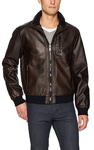 3eddf4e18 Men's Faux Leather Bomber Jacket