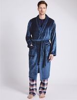 Marks and Spencer 2in Longer Fleece Dressing Gown with Belt