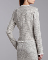 St. John Speckled Tweed Jacket, Porcelain