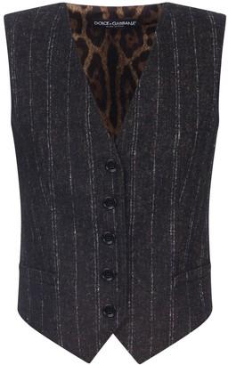 Dolce & Gabbana Pinstripe Buttoned Waistcoat