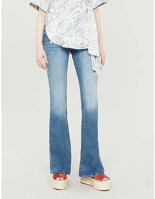 Frame Ladies Blue Cotton Le High Flare High-Rise Flared Jeans, Size: 23