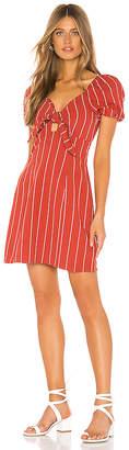 J.o.a. Striped Tie Front Mini Dress