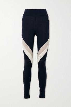 WE NORWEGIANS Voss Color-block Merino Wool-blend Pique Leggings - Navy