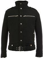 Balmain standing collar buttoned jacket - men - Cotton/Polyamide/Polyester/Wool - M