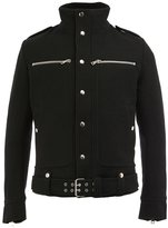 Balmain standing collar buttoned jacket