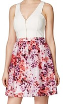 GUESS White Women's Size 8 Floral Print A-Line Sheath Dress
