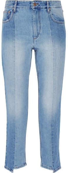 Etoile Isabel Marant Clancy Cropped High-rise Straight-leg Jeans - Light denim