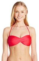 Seafolly Women's Shimmer Twist Bandeau Bikini Top