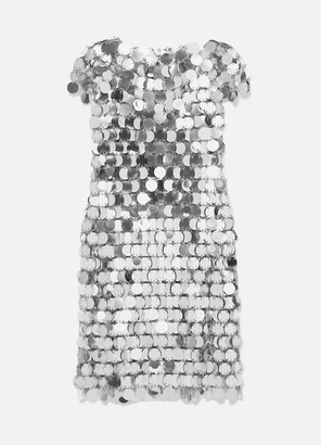 Paco Rabanne Sequined Mini Dress - Silver