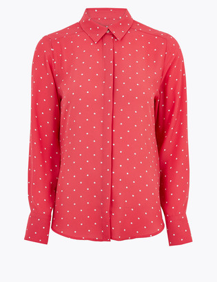 Marks and Spencer Polka Dot Long Sleeve Shirt