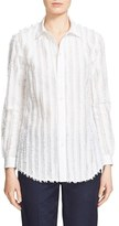 Julien David Women's Fringe Stripe Shirt
