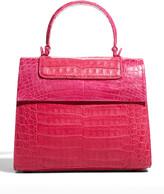 Thumbnail for your product : Nancy Gonzalez Lily Medium Tricolor Crocodile Top-Handle Bag
