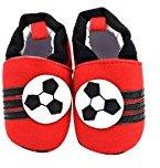 Binmer(TM) Baby Girls Boys Cloth Shoes Sneaker Anti-slip Soft Sole Toddler (0~6 Month, Red)