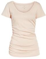 Caslon Women's Shirred V-Neck Tee